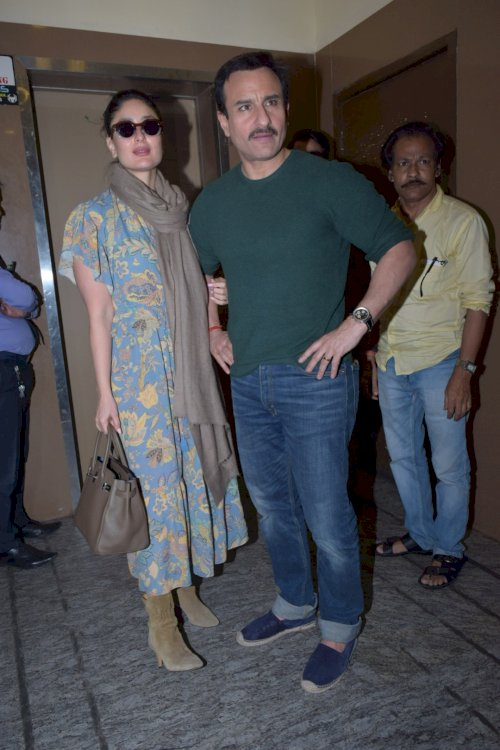 Kareena and Saif spotted at PVR Juhu./Pic by News Helpline