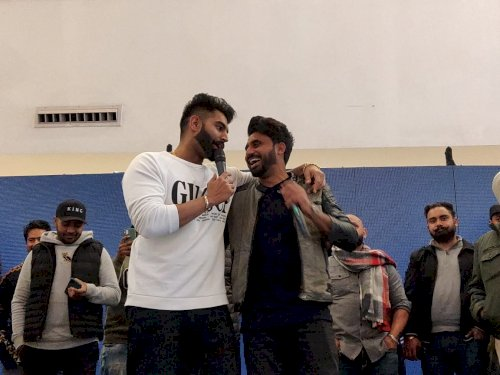 Musical performance�by�Punjabi Celebrity Parmish Verma at VR Punjab Mall, Mohali.
