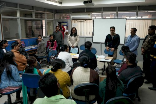 A parent teacher interaction being organized at DAV College, Jalandhar. (Feb 15, 2020)
