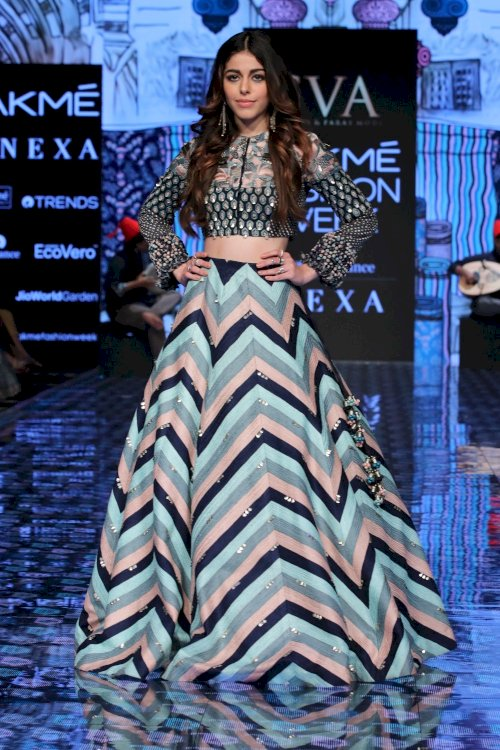 Alaya F walks for Paras Modi at Lakme Fashion Week 2020. /Pics by News Helpline