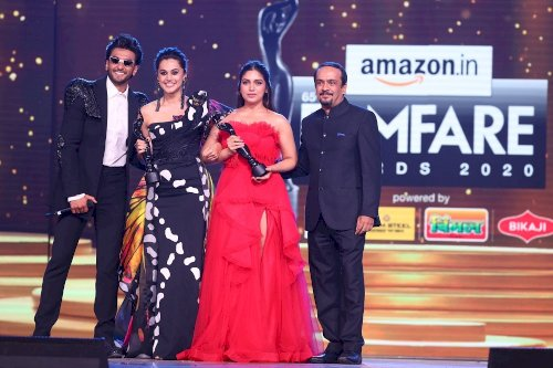 65th Amazon Filmfare Awards 2020 - Bhumi Pednekar and Taapsee Pannu win Critics� Award For Best Actor (Female).