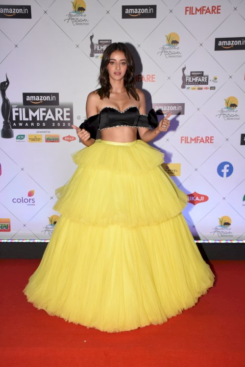 Actress Ananya Pandey at the 65th Amazon Filmfare Awards 2020.