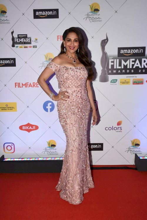 Madhuri Dixit at the 65th Amazon Filmfare Awards-2020.