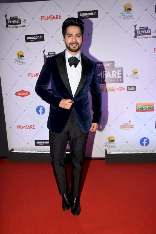 Varun Dhawan at the 65th Amazon Filmfare Awards 2020.