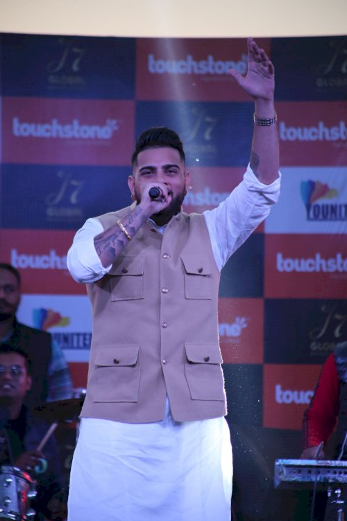 Punjabi Singer Karan Aujla performs at LPU Campus on February 17, 2020.