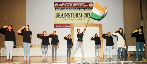 PG Department of Commerce and Business Administration of Kanya Maha Vidyalaya (KMV), Jalandhar on February 22, 2020 organized an Inter College Competition BRAINSTORM 2020.