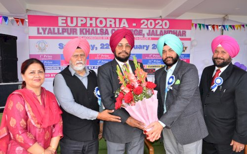 �Euphoria-2020�, an impressive mega event being conducted by Lyallpur Khalsa College, Jalandhar on February 22, 2020.