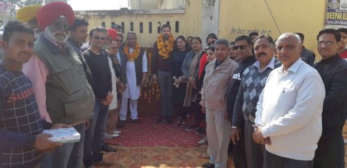 MLA Angad Singh starts development works worth Rs 1.16 crore In Nawanshahr on February 23, 2020.