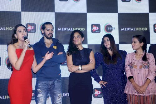 Karisma Kapoor, Dino Morea, Sandhya Mridul, Shilpa Shukla, Tillotama Shome, Shruti Sheth, Sanjay Suri along with content czarina Ekta Kapoor at the trailer launch of the most-awaited and the biggest web-series of the year Mentalhood. /Pics by News Helpline
