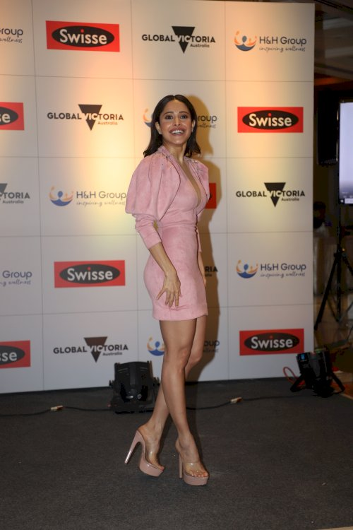 Nushrat Bharucha joins announcement of the launch of Swisse Wellness in India./Pics by News helpline