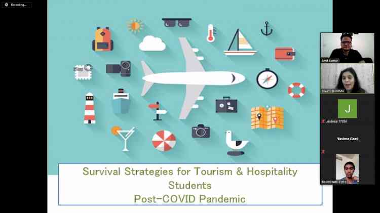 CT University organizes webinar on survival strategies for young tourism aspirants