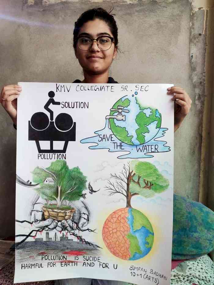 KMV organizes poster making, slogan writing competition and sampling of life