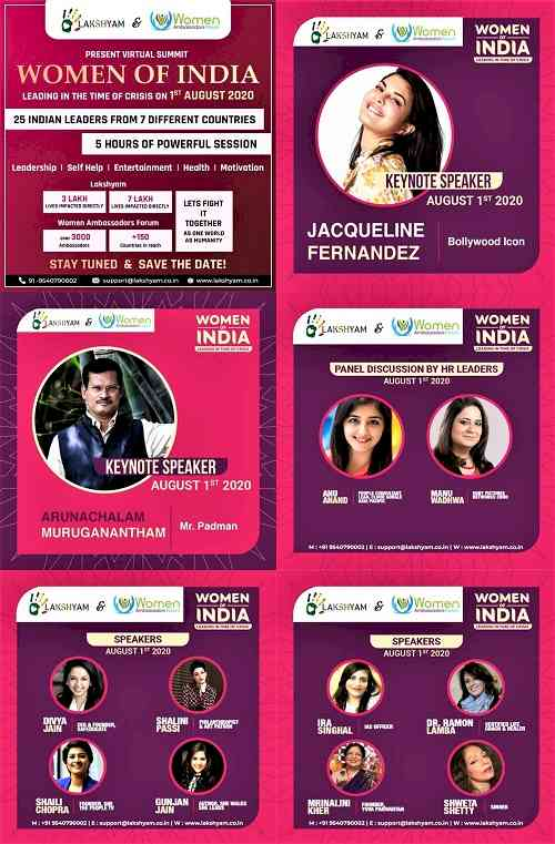 Lakshyam and Women's Ambassador Forum to organize global virtual summit 'Women of India'
