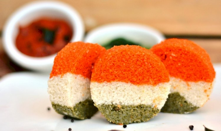 Tricolour idli recipe