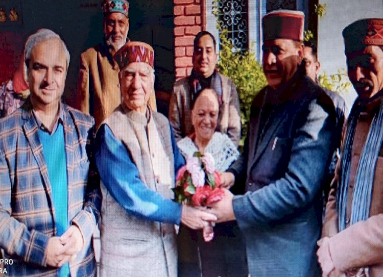 Newly appointed state BJP president of HP Dr Rajiv Bindal reaches Palampur